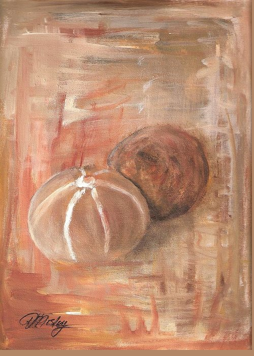 Still Life Greeting Card featuring the painting Potpourri Three by Vivian Mosley