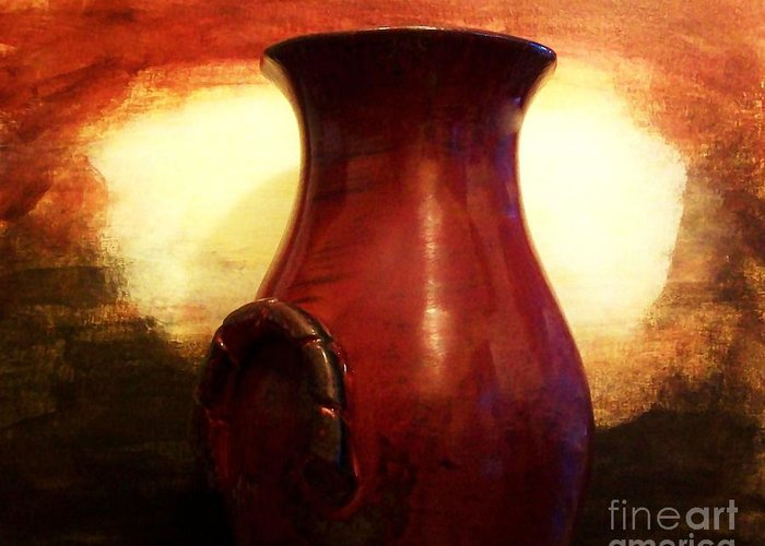 Photo Greeting Card featuring the photograph Pottery From Italy by Marsha Heiken