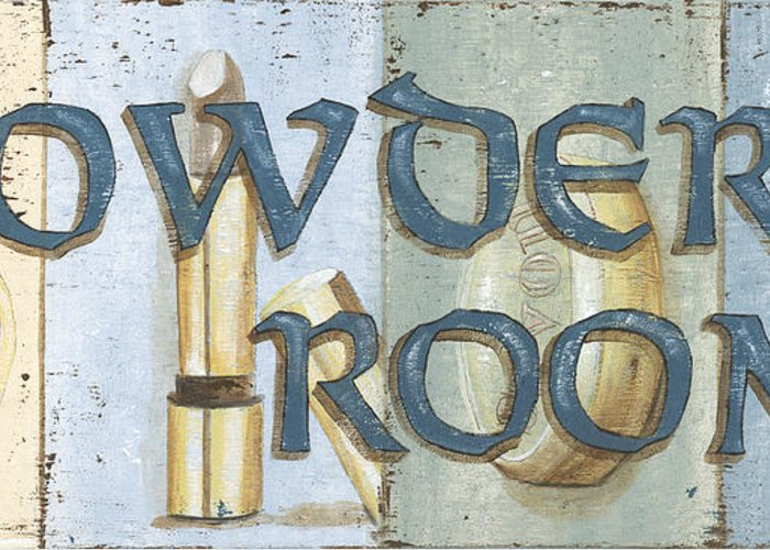 Powder Room Greeting Card featuring the painting Powder Room by Debbie DeWitt