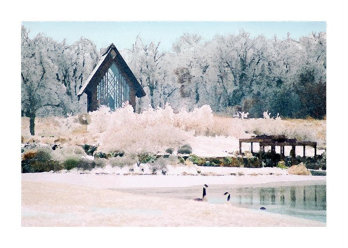 Landscape Greeting Card featuring the photograph Powell Gardens Chapel by Steve Karol