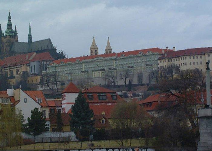 He Lesser Town Greeting Card featuring the digital art Prague Castle In Prague Czech Republic by Paul Pobiak