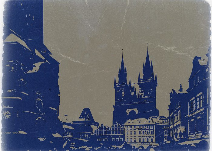 Prague Greeting Card featuring the photograph Prague Old Town Square by Naxart Studio