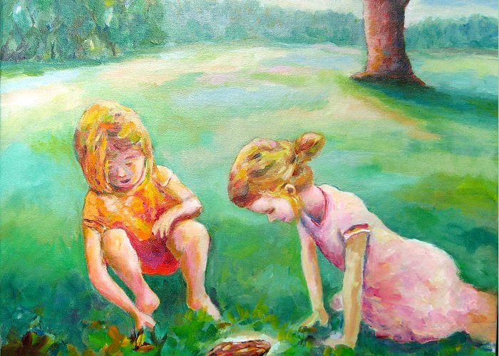 Kids Greeting Card featuring the painting Prairie Prince by Naomi Gerrard
