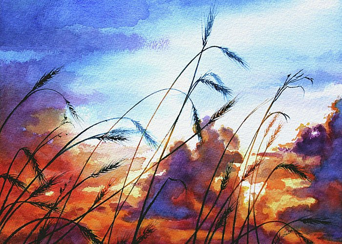Prairie Sunset Greeting Cards