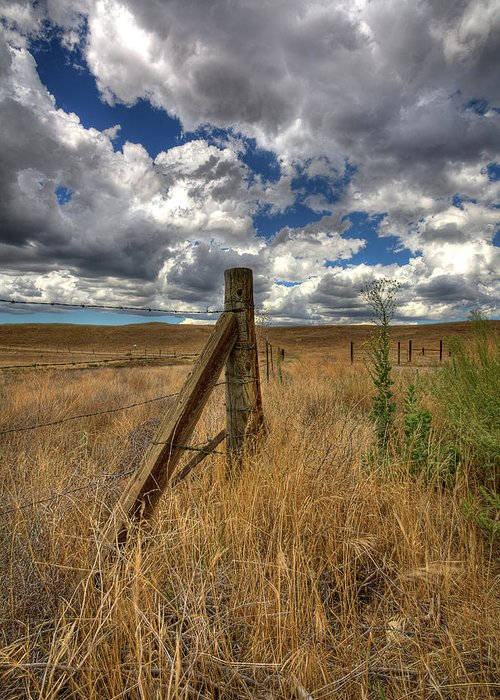 Clouds Greeting Card featuring the photograph Prarie Sky by Peter Tellone