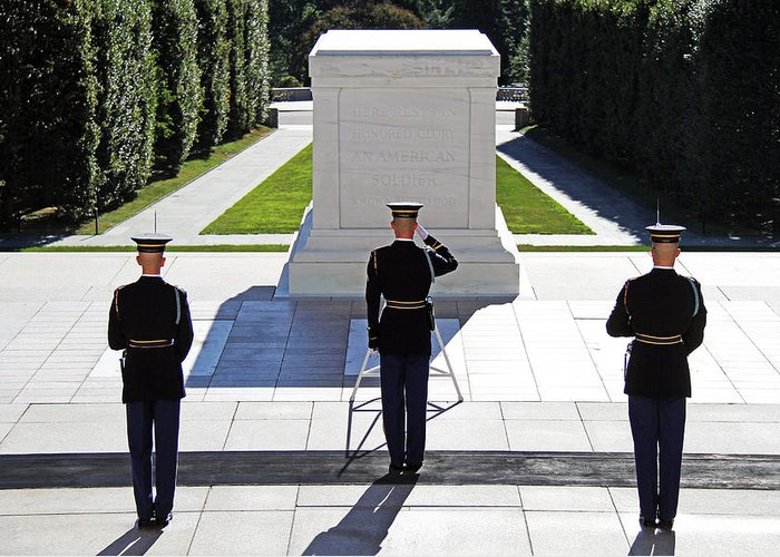 Tomb Of The Unknown Soldier Greeting Card featuring the photograph Pray For Peace by Mitch Cat