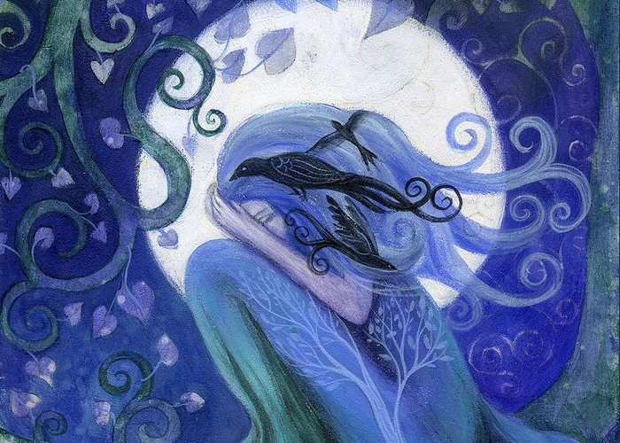 Fantasy Greeting Card featuring the painting Prayer by Amanda Clark