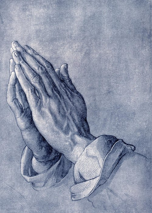 Durer Greeting Card featuring the photograph Praying Hands, Art By Durer by Sheila Terry