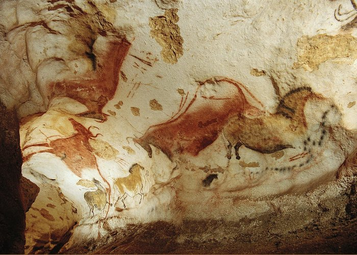 Indoor Greeting Card featuring the photograph Prehistoric Artists Painted Robust by Sisse Brimberg