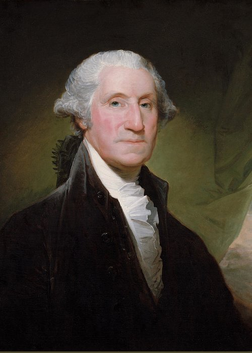 George Washington Greeting Card featuring the painting President George Washington by War Is Hell Store