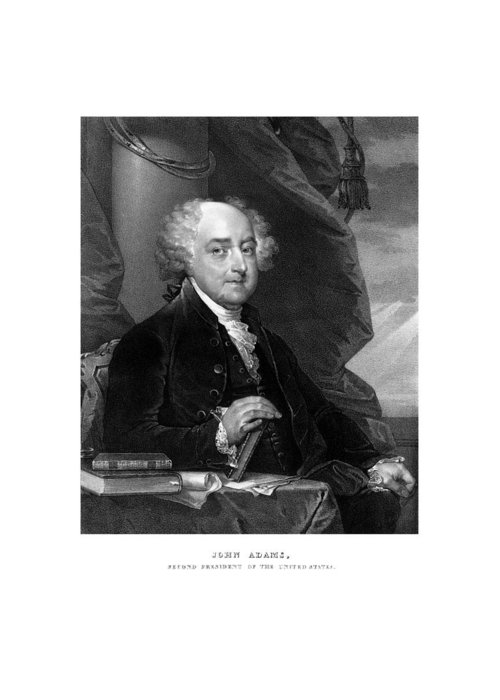 John Adams Greeting Card featuring the mixed media President John Adams by War Is Hell Store