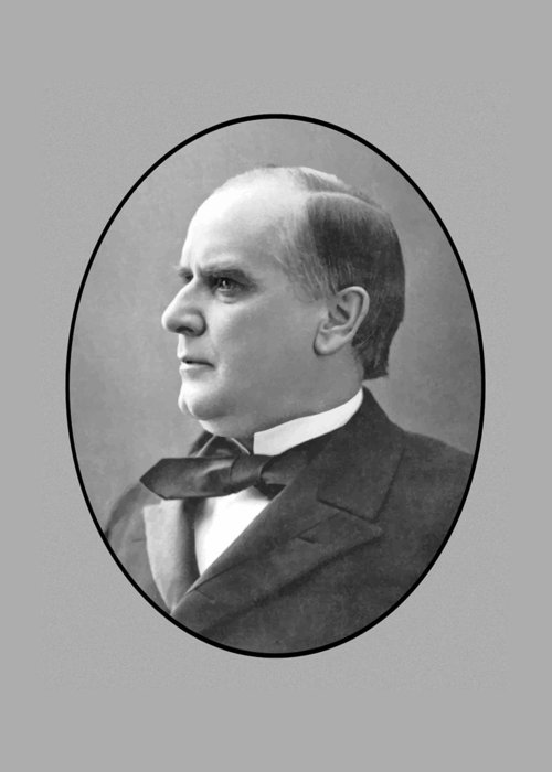 President Mckinley Greeting Card featuring the painting President Mckinley by War Is Hell Store