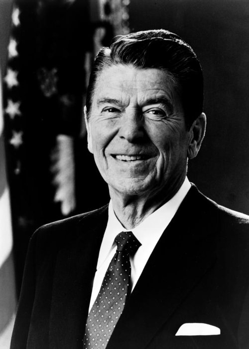 ronald Reagan Greeting Card featuring the photograph President Ronald Reagan by International Images