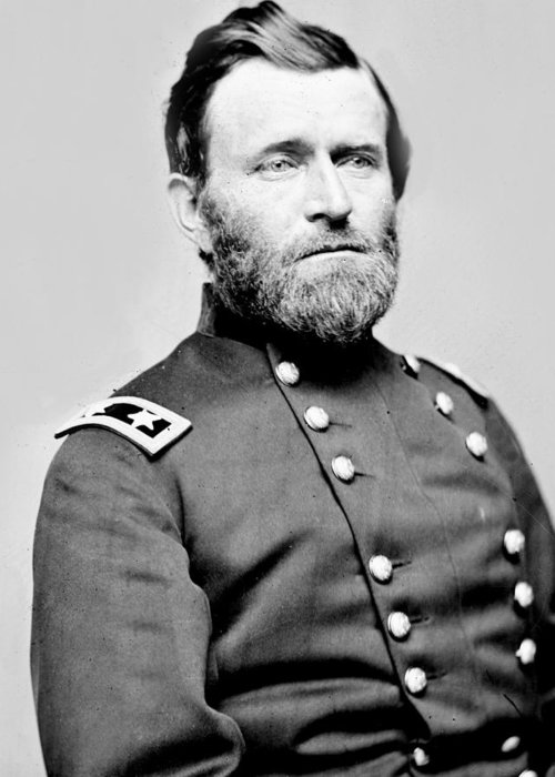 ulysses S Grant Greeting Card featuring the photograph President Ulysses S Grant In Uniform by International Images