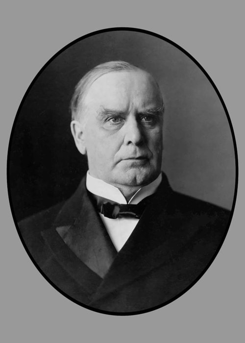 William Mckinley Greeting Card featuring the painting President William Mckinley by War Is Hell Store