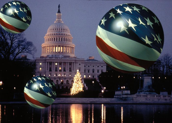 American Greeting Card featuring the photograph Presidential Balls by Carl Purcell