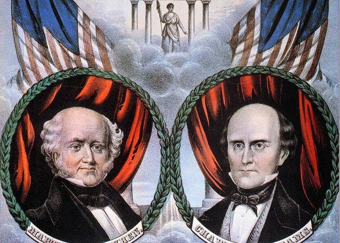 1848 Greeting Card featuring the photograph Presidential Campaign, 1848 by Granger