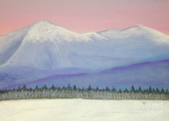 White Greeting Card featuring the pastel Presidential Sunrise by Marc Fournier
