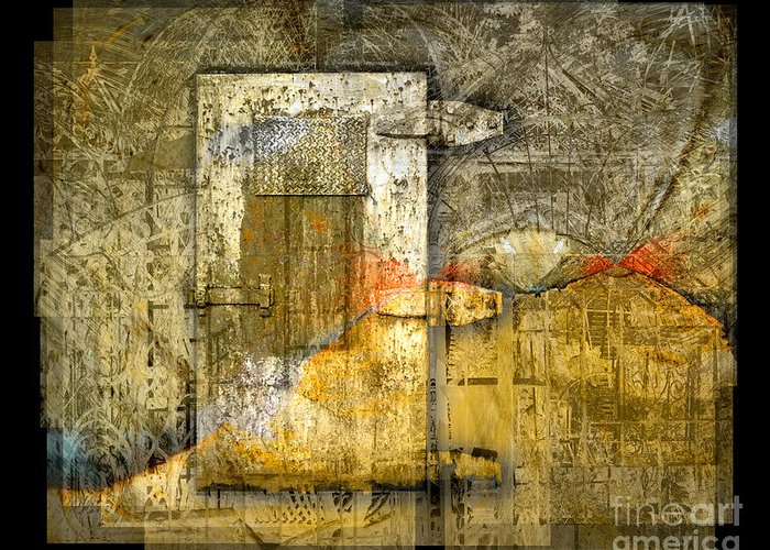 Door Greeting Card featuring the digital art Presidio Door by Chuck Brittenham