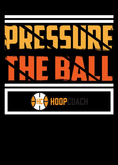 Basketball-apparel Greeting Card featuring the digital art Pressure The Ball Hoop Coach Basketball by Passion Loft