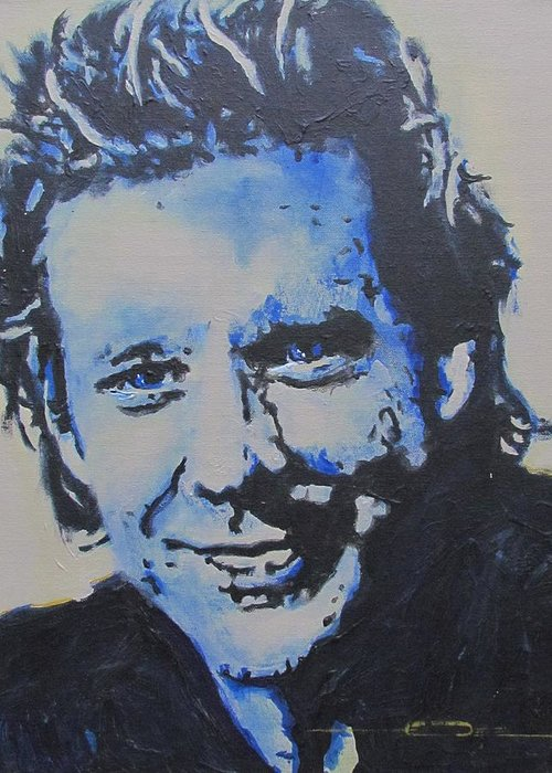 Mickey Rourke Greeting Card featuring the painting Pretty Boy Mickey by Eric Dee