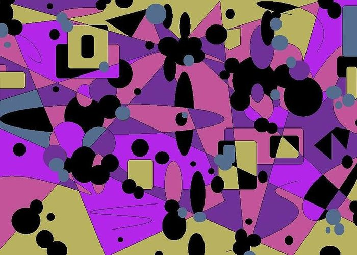 Digital Abstract Greeting Card featuring the digital art Pretty Picture by Jordana Sands