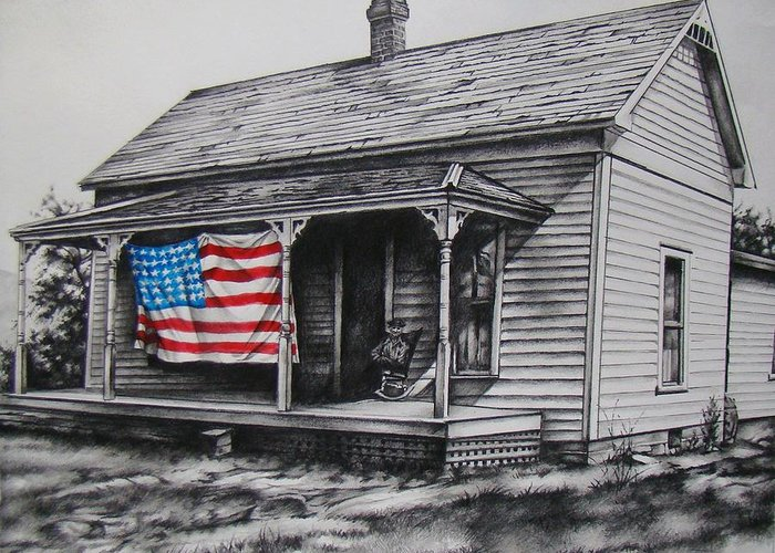 Flag Greeting Card featuring the mixed media Pride by Michael Lee Summers