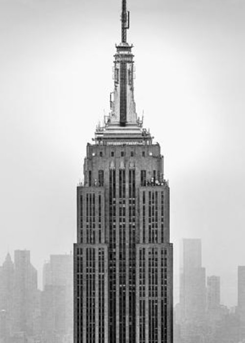 Empire State Building Greeting Card featuring the photograph Pride Of An Empire by Az Jackson