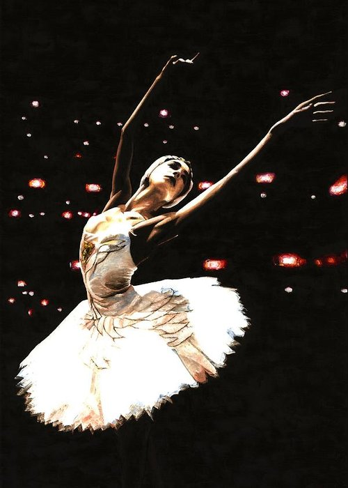 Prima Ballerina Greeting Card featuring the painting Prima Ballerina by Richard Young