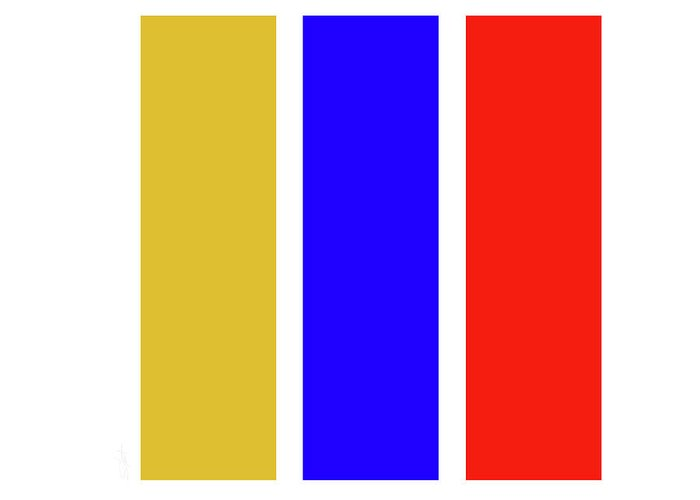 Primary Colors Greeting Card featuring the digital art Primary by Charles Stuart
