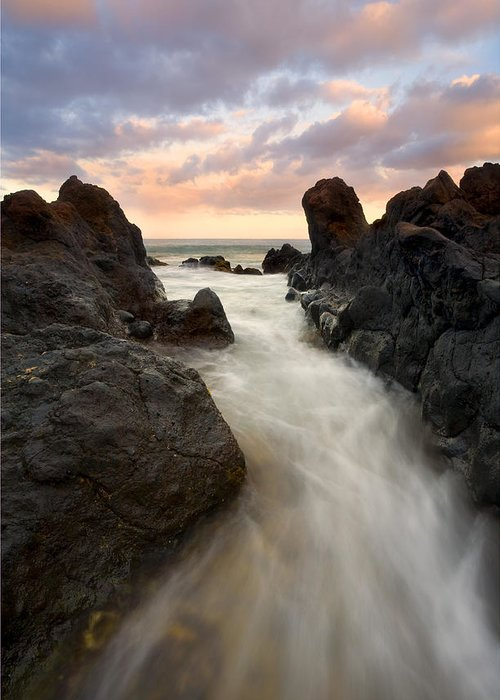 Sunrise Greeting Card featuring the photograph Primordial Tides by Mike Dawson