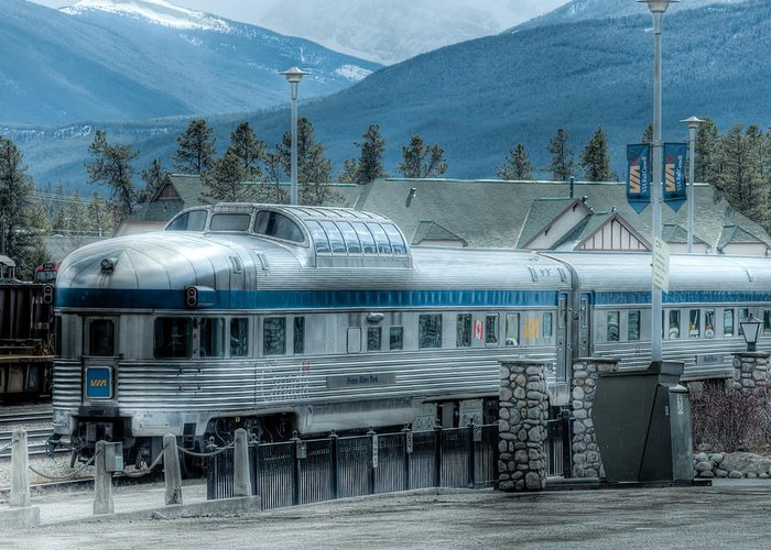 Alberta Greeting Card featuring the photograph Prince Albert Park - Via Dome Car by R J Ruppenthal