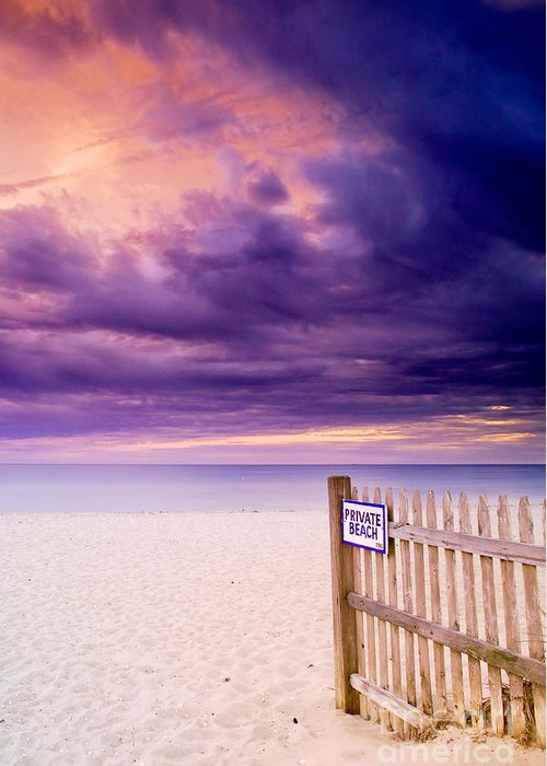 Centerville Greeting Card featuring the photograph Private Beach Cape Cod by Matt Suess