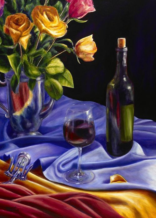 Still Life Greeting Card featuring the painting Private Label by Shannon Grissom