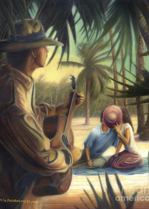 Music Art Greeting Card featuring the drawing Private Serenade by Mike Massengale