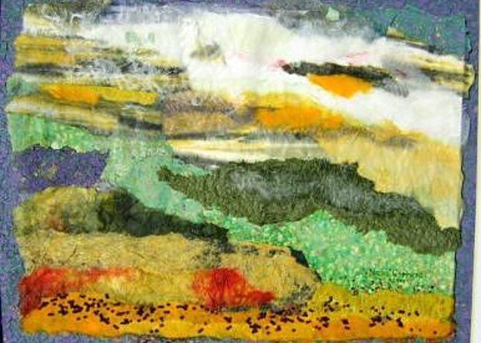 Prairie Scene Greeting Card featuring the painting Productive Prairies by Naomi Gerrard