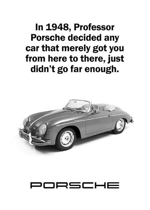 Professor Porsche Greeting Card For Sale By Mark Rogan