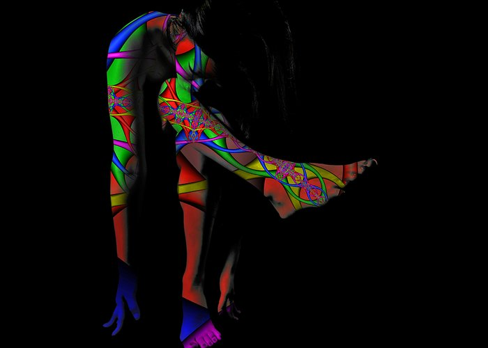 Body Paint Greeting Card featuring the photograph Projected Body Paint 2094973a by Rolf Bertram