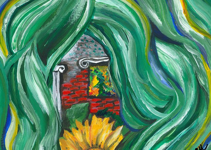 Prosperity Greeting Card featuring the painting Prosperity by Susan Cooke Pena