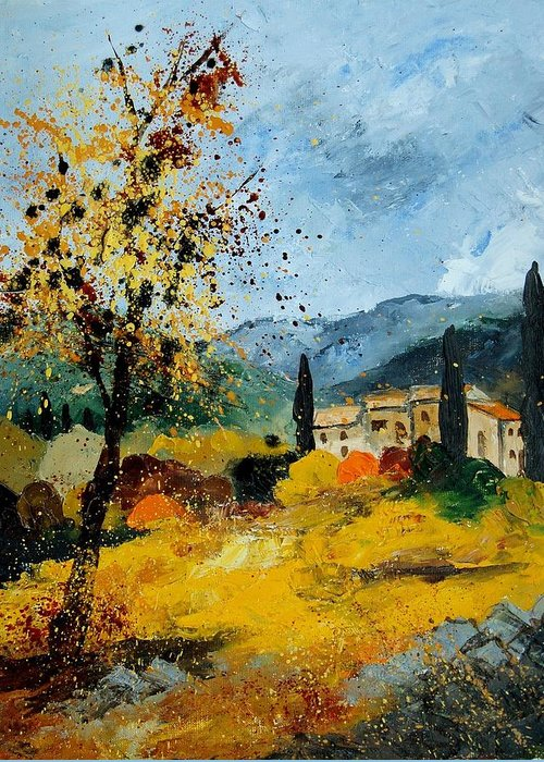 Provence Greeting Card featuring the painting Provence 45 by Pol Ledent
