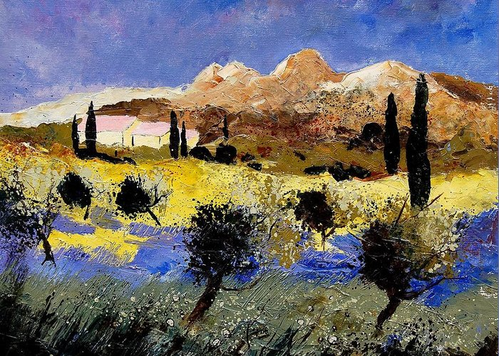 Provence Greeting Card featuring the painting Provence 674525 by Pol Ledent