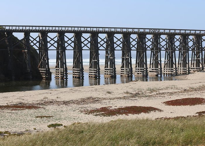 Pudding Greeting Card featuring the photograph Pudding Creek Trestle by Christy Pooschke