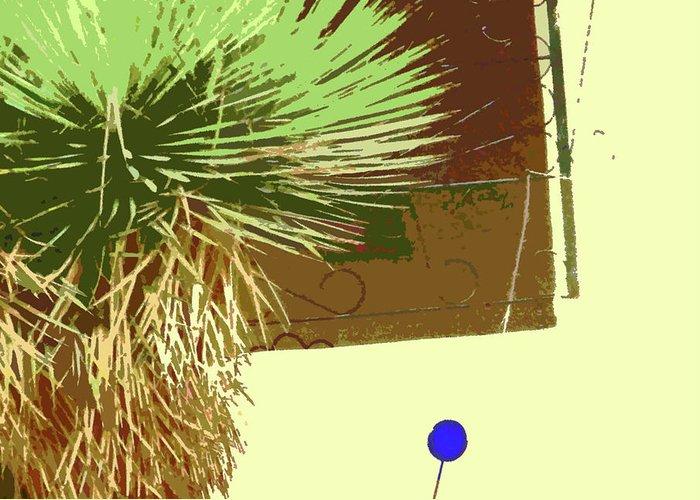 Abstract Greeting Card featuring the digital art Pueblo Hacienda Design by Lenore Senior