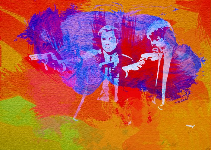 Pulp Fiction Greeting Card featuring the painting Pulp Fiction 2 by Naxart Studio