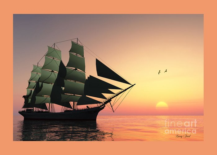 Sailing Greeting Card featuring the painting Pulse Of Life by Corey Ford