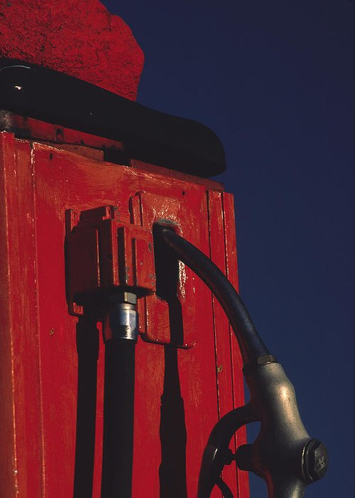 Gas Pump Greeting Card featuring the photograph Pump by Art Ferrier