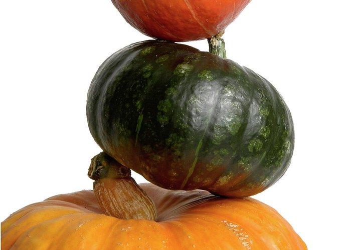 Pumpkins Greeting Card featuring the photograph Pumpkins by Bernard Jaubert