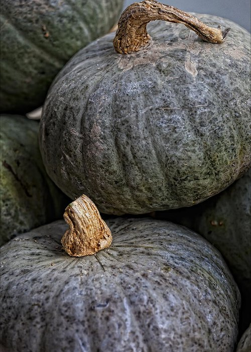 Food Greeting Card featuring the photograph Pumpkins Of Another Color by Robert Ullmann