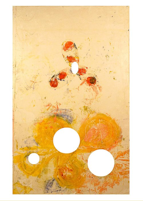 Abstract Greeting Card featuring the painting Punctuations by Howard Goldberg