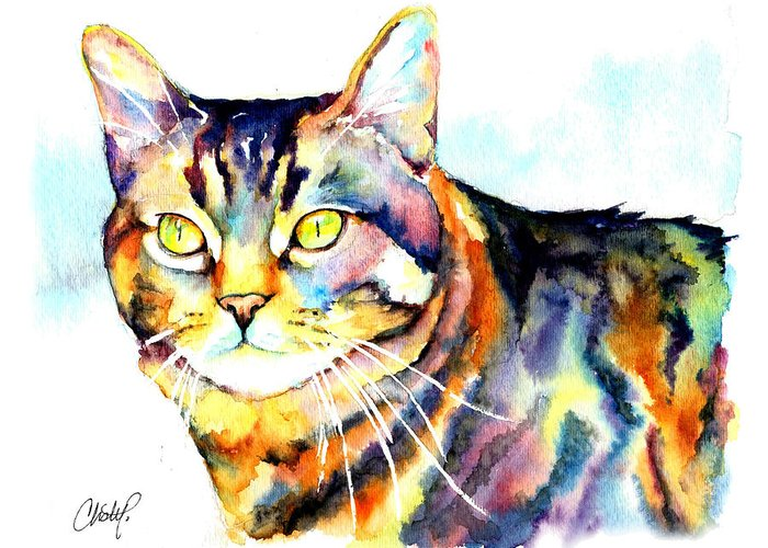 Tabby Cat Greeting Cards